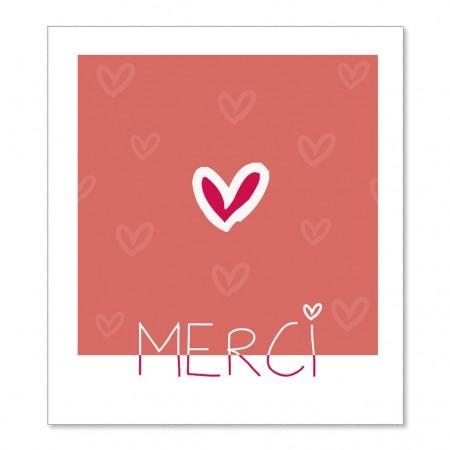 Carte Postale Merci +enveloppe
