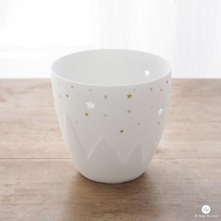 """Photophores porcelaine """"Montagne étoilée"""""""
