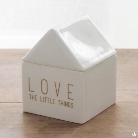 Boite Maison porcelaine à bijoux Love The Little Things en porcelaine