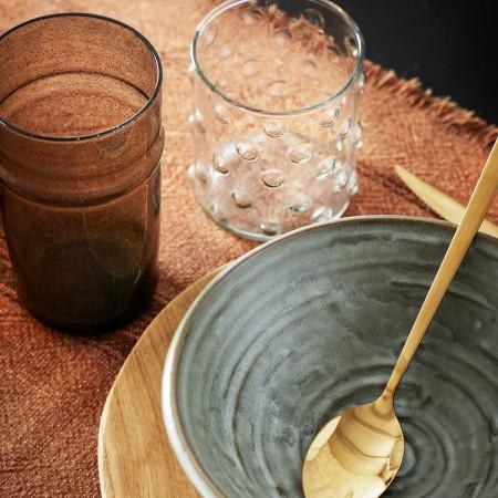 Chemin de table en coton Terracotta stone washed